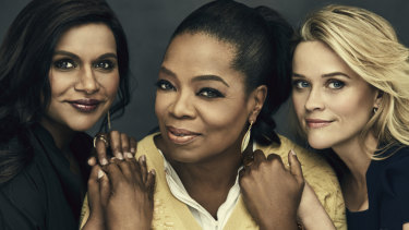 Mindy Kaling, Oprah Winfrey and Reese Witherspoon.