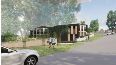 An artist's impression of a boarding house proposed for Allambie Heights.