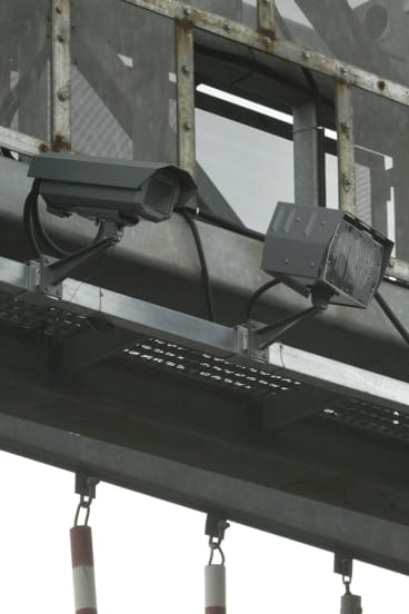 Speed cameras over the M4 in Sydney.