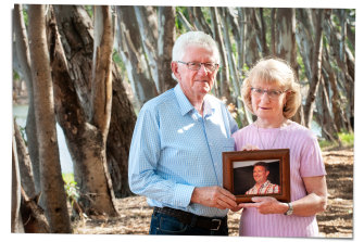 Margaret and John Millington, who lost their son Simon to opioid addiction.