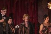 Journalist Helen Pitt performs in a walk-on role in La Boheme at the Sydney Opera House.