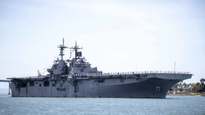 Trump says US warship destroyed Iranian drone in Strait of Hormuz