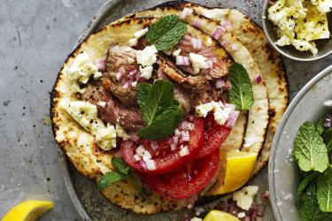 Lamb and feta tacos