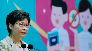 """Carrie Lam on Tuesday: """"With regards to foreign media reports about a nuclear plant in Taishan, Guangzhou, the Hong Kong government is highly concerned."""""""