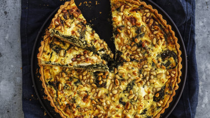 Helen Goh's spinach tart with pine nuts, cheese and herbs