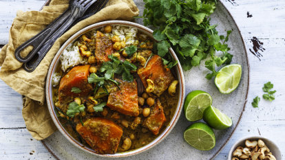 Karen Martini's pumpkin and chickpea coconut curry