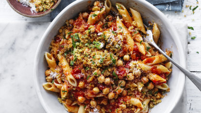 Neil Perry's Penne with chickpeas and chilli