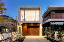 Building the four-bedroom house on 441 sq m at 22 Elwin Strathfield was a bonus for the vendor, who initially only thought he was buying one title on the larger 1100 sq m site.