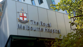 The Royal Melbourne Hospital.