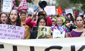 The International Women's Day march in Sydney last year.