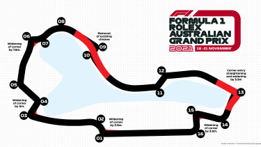 Albert Park circuit modifications.