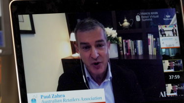 Australian Retailers Association chief executive Paul Zahra says the pandemic has brought forward years' worth of disruption.
