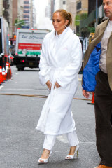 Unless you're J-Lo, leave the terry-toweling robe on the bathroom hook.