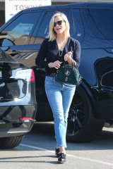 Actress Reese Witherspoon sports a Jimmy Choo bowling bag in Los Angeles last week.