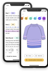 App Bellish delivers knitters personalised patterns according to their selected size, style and yarn.