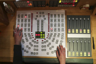 Karlie Liddell's control panel for the microphones of MPs.