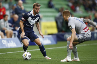 Callum McManaman scored for Victory in their draw with the Central Coast Mariners at AAMI Park.