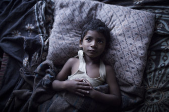 Sunny Pawar as the young Saroo in the smash-hit film <i>Lion</i>.