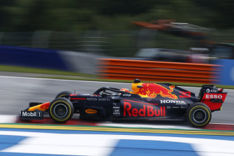 Red Bull's Max Verstappen during the second practice session on Friday.