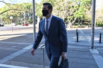 Ben Roberts-Smith outside the Federal Court in Sydney on Thursday.