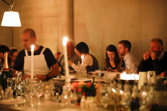High-end dining such as The Apollo Restaurant provides the new nightlife in the Kings Cross area.