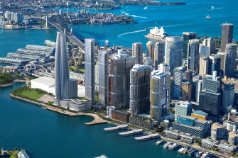 """Central Barangaroo is designed to act as a """"bridge"""" between the headland park and the high-rise financial district."""