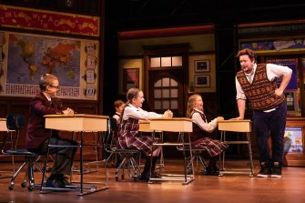 Stage production of the School of Rock.