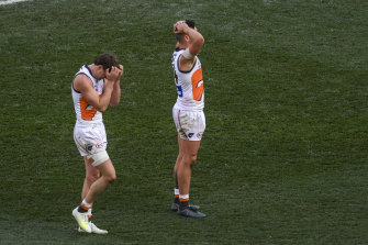The pain of a grand final drubbing.