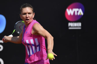 Simona Halep wins through in Rome.