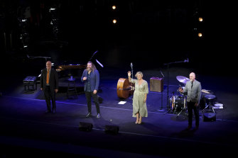 Emma Pask and her band play at The Sydney Opera House.