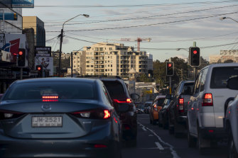 Peakhour traffic in Western Sydney.