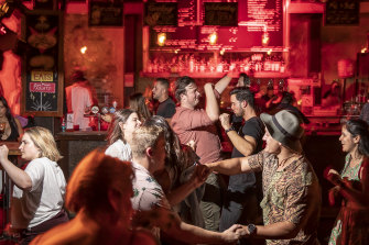Punters get their chance to finally dance at the The Soda Factory.