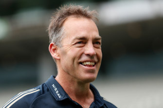 Alastair Clarkson is in the US as he looks to broaden his coaching experience.