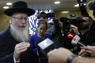 Yaakov Litzman is chairman of an ultra-Orthodox bloc supporting Benjamin Netanyahu's prime ministership.