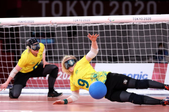 Brodie Smith and Meica Jayne Horburgh of Australia during their match against Israel.