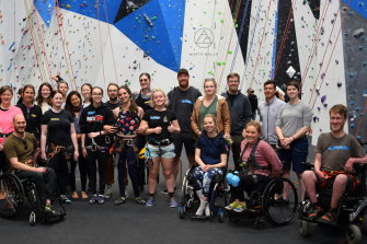 Participants and staff of Adaptive Climbing Victoria, which is receiving business assistance from The Good Incubator.