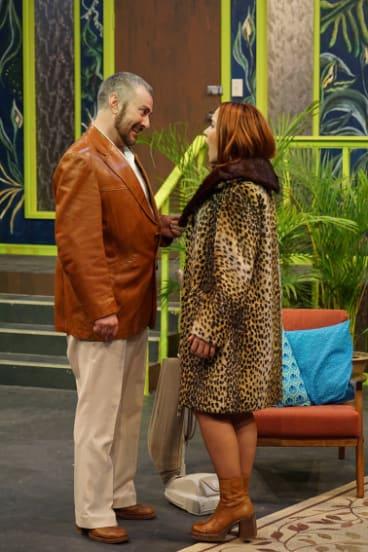 Michael Sparks and Jess Waterhouse in <i>Happy Birthday, Wanda June</i>.
