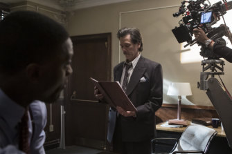 Judged on my work: Behind-the-scenes with Aldis Hodge as Decourcy Ward and Kevin Bacon as Jackie Rohr.
