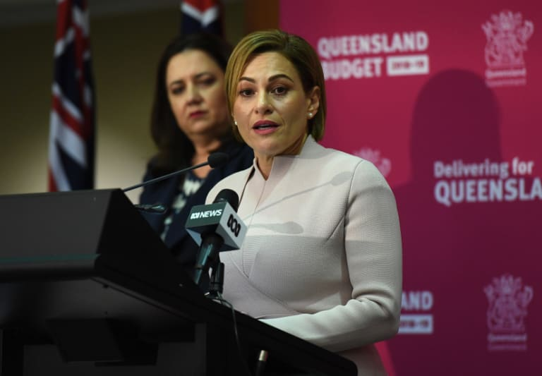 Queensland Premier Annastacia Palaszczuk (left) and Treasurer Jackie Trad are pushing for a City Deal for south-east Queensland.