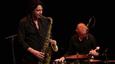 Yuri Honing and Joost Lijbaart on stage at the Wangaratta Festival of Jazz and Blues
