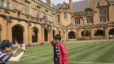 Last year nearly one in four of all students enrolled at Sydney University were Chinese.