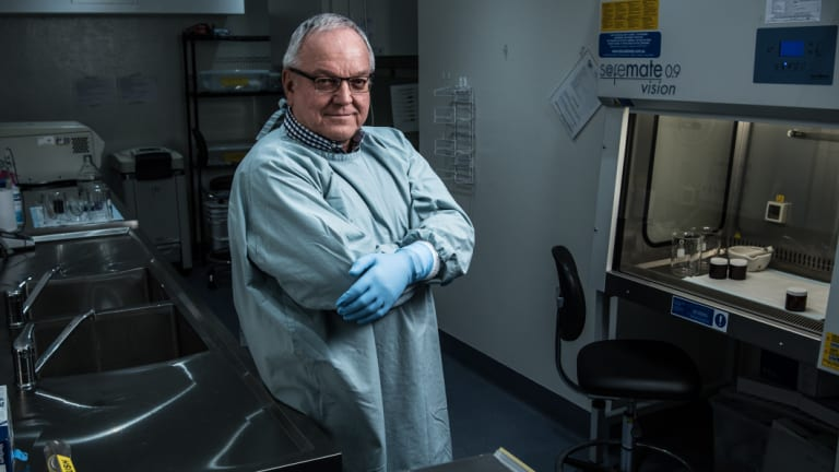 Professor Thomas Borody at the Centre for Digestive Diseases in Five Dock, NSW.