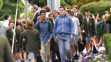 Some Trinity students have been wearing smart casual clothes to school in protest at Rohan Brown's sacking.