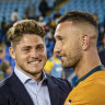 Strength in depth: James O'Connor and Quade Cooper.
