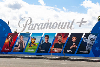 A Paramount+ billboard in the United States. The service is launching in Australia in August.