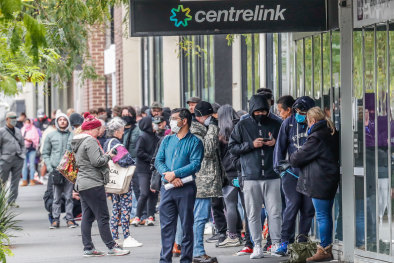 Centrelink queues have stretched around blocks in Australian cities this week.