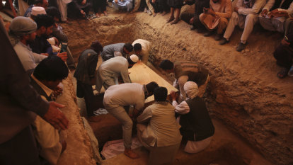 Happiness to heartbreak: Mass funeral for Kabul wedding blast victims