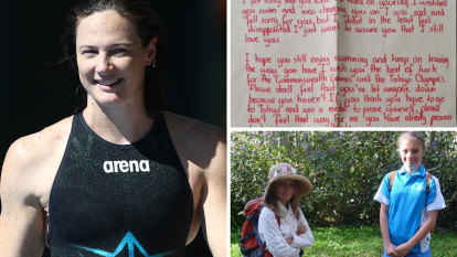 Two young girls wrote to Cate Campbell in the dark days after Rio. The letters saved her career.