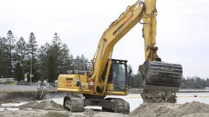 Building a beach for summer: the battle against coastal erosion