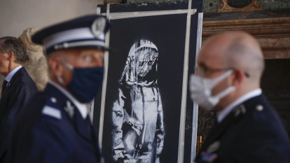 Banksy mural stolen from Bataclan returned after being found in Italy farmhouse